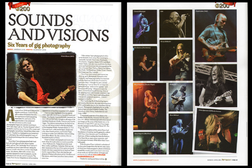 SOUNDS AND VISIONS - SIX YEARS OF GIG PHOTOGRAPHY