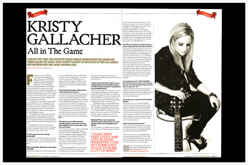 KRISTY GALLACHER - CLASSIC ROCK SOCIETY MAGAZINE  INTERVIEW
