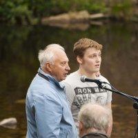 Wesley explaining why he wanted to be baptized.
