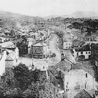 View from the top of the church tower looking south, c1910