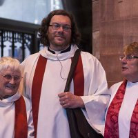 Revd Jean Wright, Revd Andrew Parkinson and Revd Canon Carole Marsden
