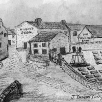 The old Tanyard on what is now the site of Temperance Hall.