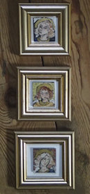 17 three framed angels Iris Davies
