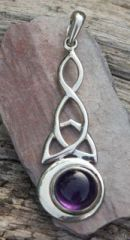 Triple knot Moon crescent set with amethyst