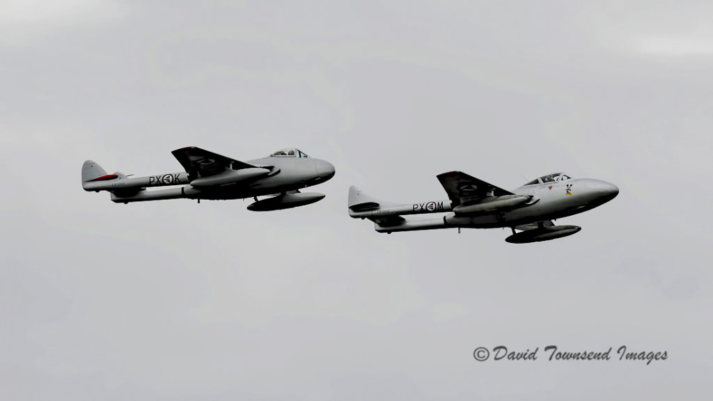 De Havilland  Vampire  T.55 LN-DHZ  and FB.6  LN-DHY