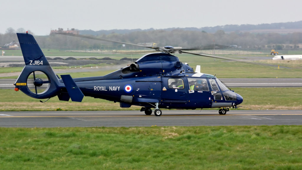 Royal Navy  Aerospatiale  SA-365F  Dauphin  ZJ164