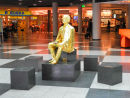 Gold Statue in the Terminal Building.