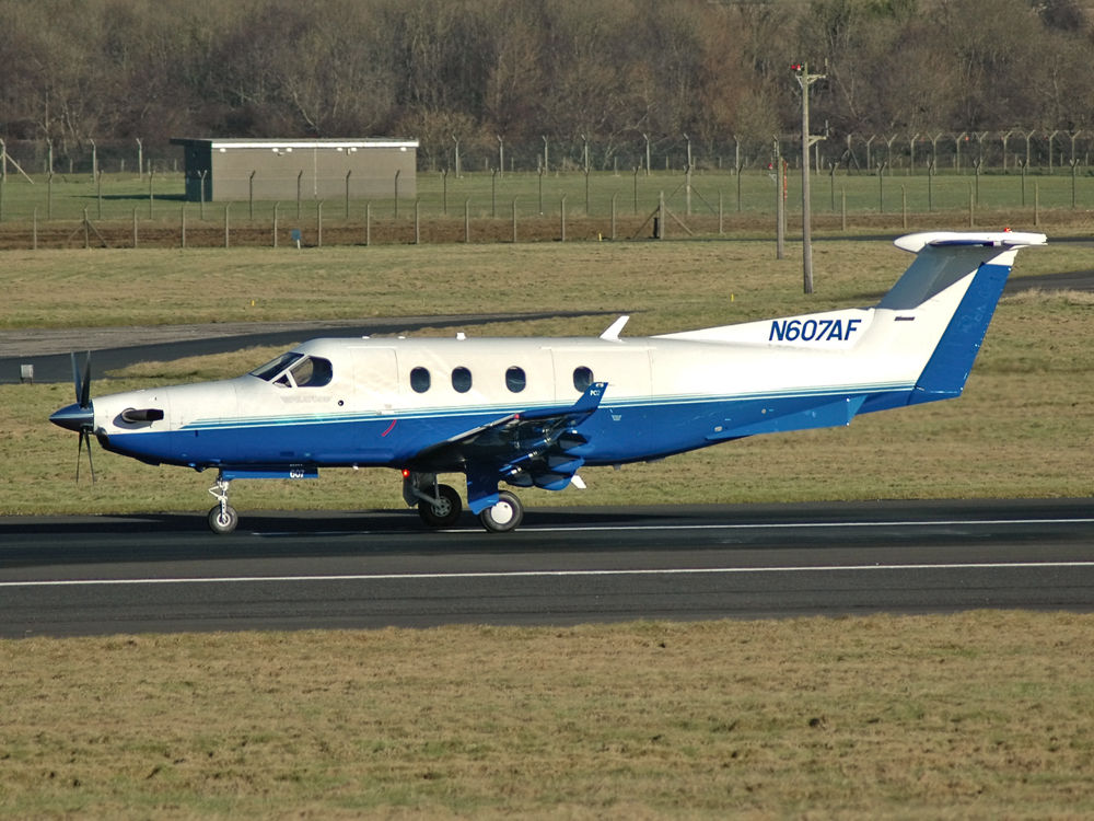 Pilatus PC-12-45  N607AF  (cn 607)