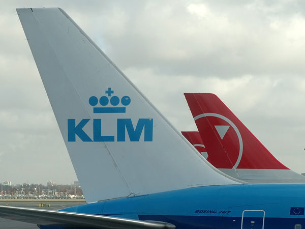 KLM Royal Dutch Airlines  Boeing 767-306(ER) with Northwest Airlines tail behind.