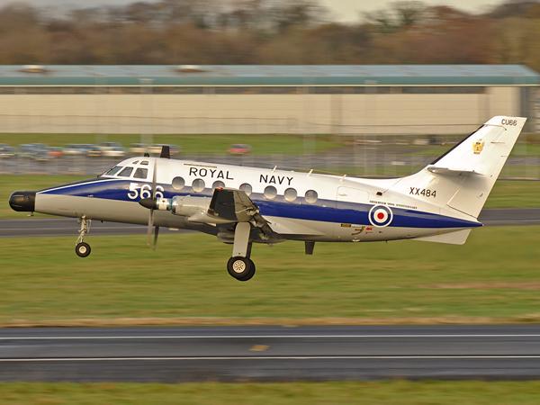 Royal Navy   SA Jetstream T2   XX484(566/CU)