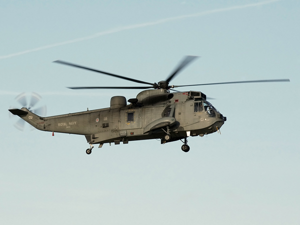 Royal Navy WS61 Sea King HU5<br> <br> ZA135
