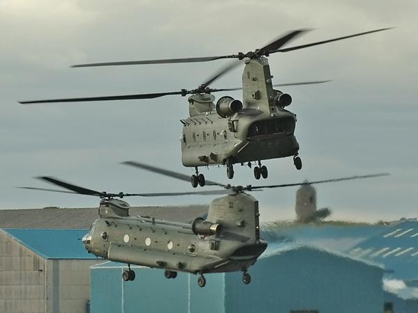 Couple of RAF Boeing Vertol Chinooks ZH775,ZA720