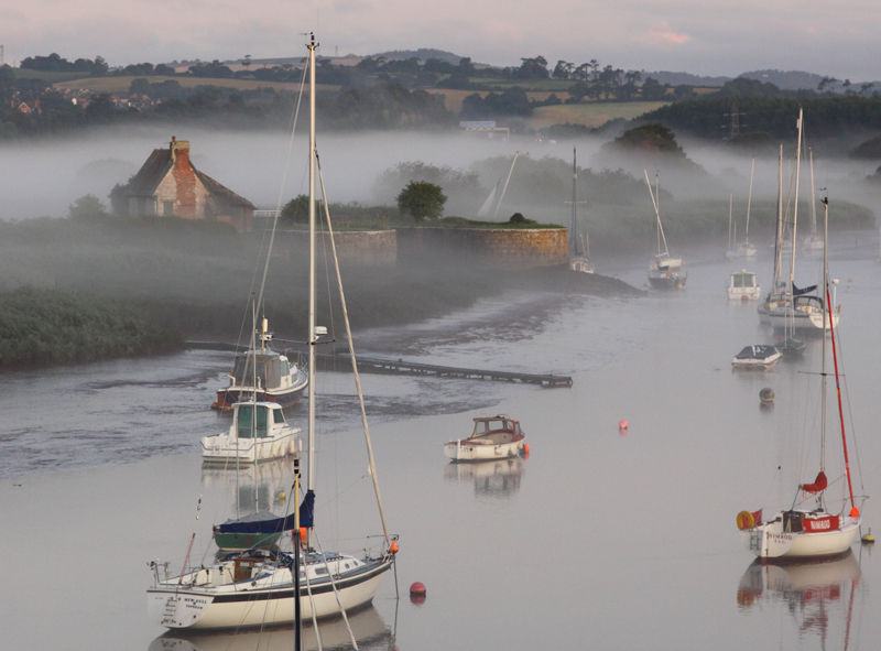 Dawn Mist Over River Exe