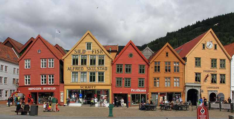 Bryggen District Shop Fronts