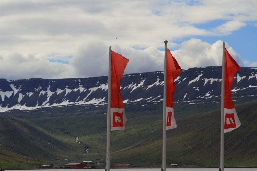 Flags in Isafjordur