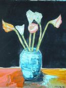 'Calla Lilies by Palette Knife'
