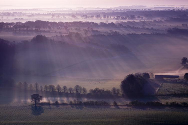 Sunrise Pewsey Vale Wiltshire