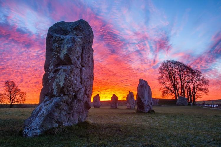 Avebury Stone Circle Winter Sunrise