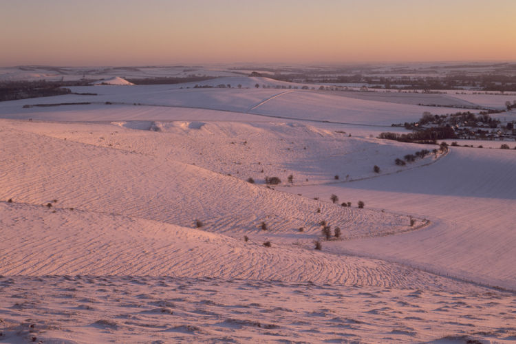 Pewsey Downs Winter sunset