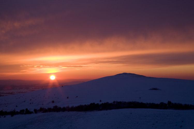Pewsey Downs Winter sunset