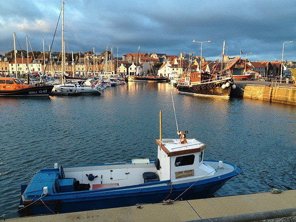 Anstruther Marina at sunset.
