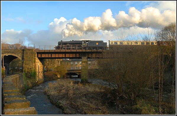Crossing the Irwell at Brooksbottoms