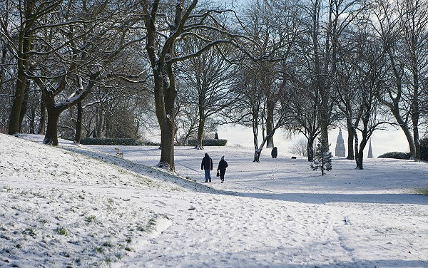 A Snowy Walk In The Park.