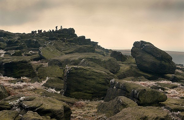 The summit of Blackstone Edge