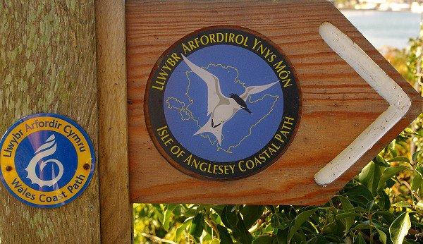 Anglesey Coastal Path sign