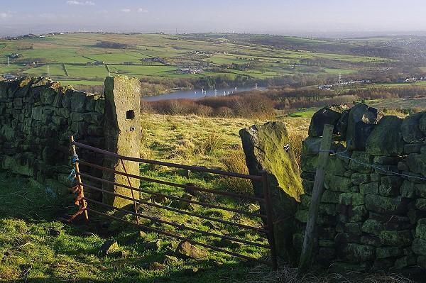 View towards the Jumbles Reservoir