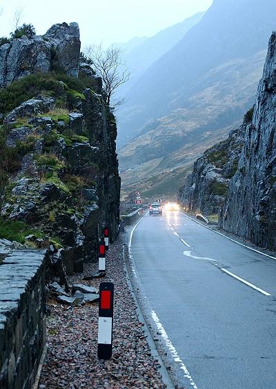 Driving through Glencoe