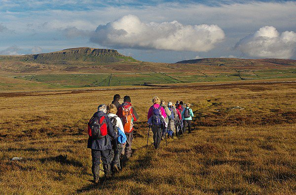 Walking in the Yorkshire Dales.