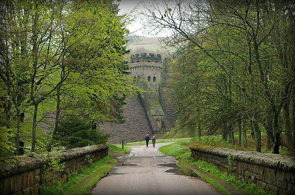 View towards the Derwent Dam