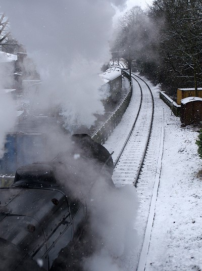 Leaving Haworth Station
