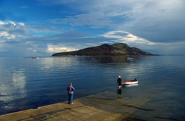 Lamlash Bay and Holy Island