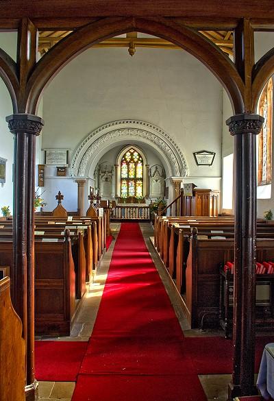 Inside St Cuthbert's Church, Edenhall