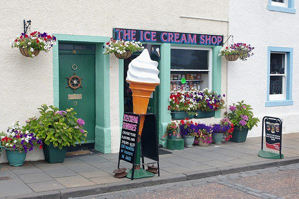 Ice Cream and Toffee Shop.