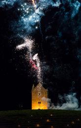 Somerset, England: Bruton – 'Spiral of Light' Festival Fireworks 5