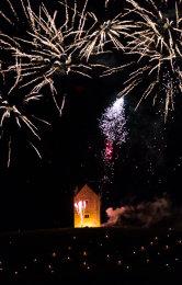 Somerset, England: Bruton – 'Spiral of Light' Festival Fireworks 7