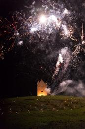 Somerset, England: Bruton – 'Spiral of Light' Festival Fireworks 9
