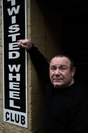 Portrait: Pete Roberts at the Twisted Wheel, Manchester