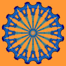 Eiffel Wheel Blue Orange