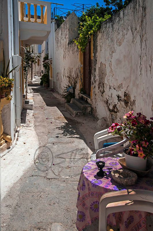 A Back Street in Agia Marina.