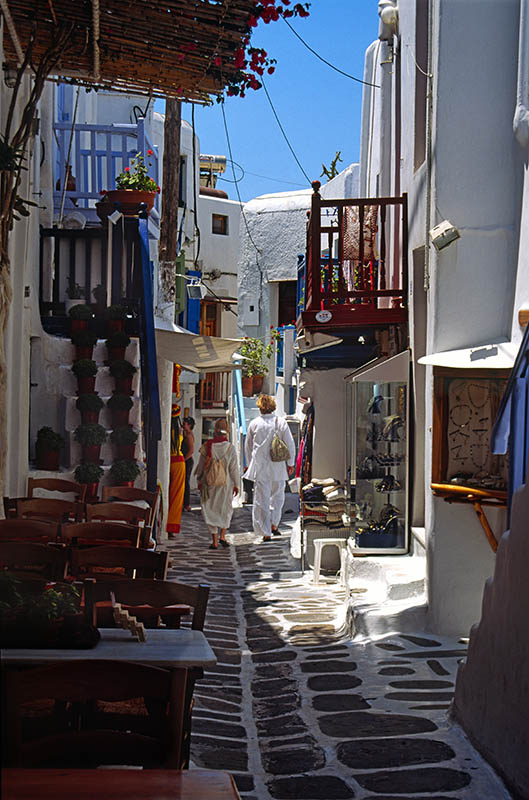 A Back Street in Mykonos Town