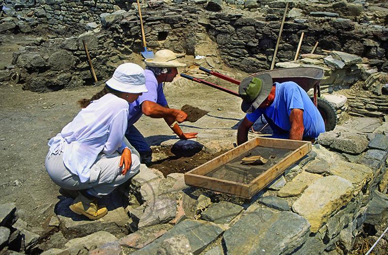 Archeologists at Delos.