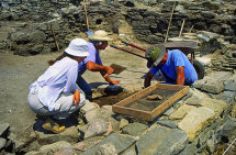 Archeologists at Delos.