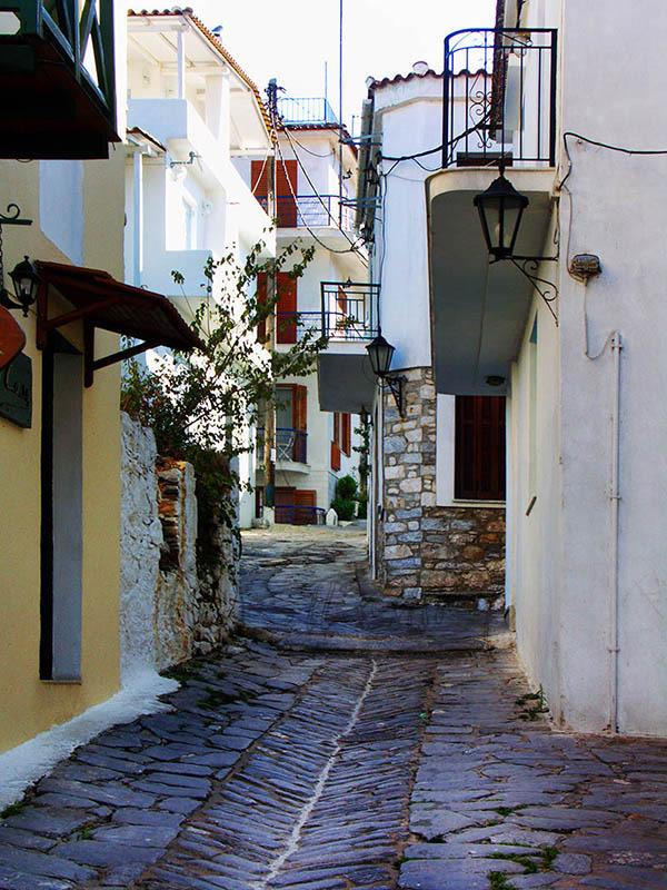 Back Street in Skiathos Town..