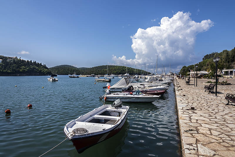 Boats Moored at Sivota Harbour (b)
