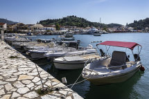 Boats Moored at Sivota Harbour (e)