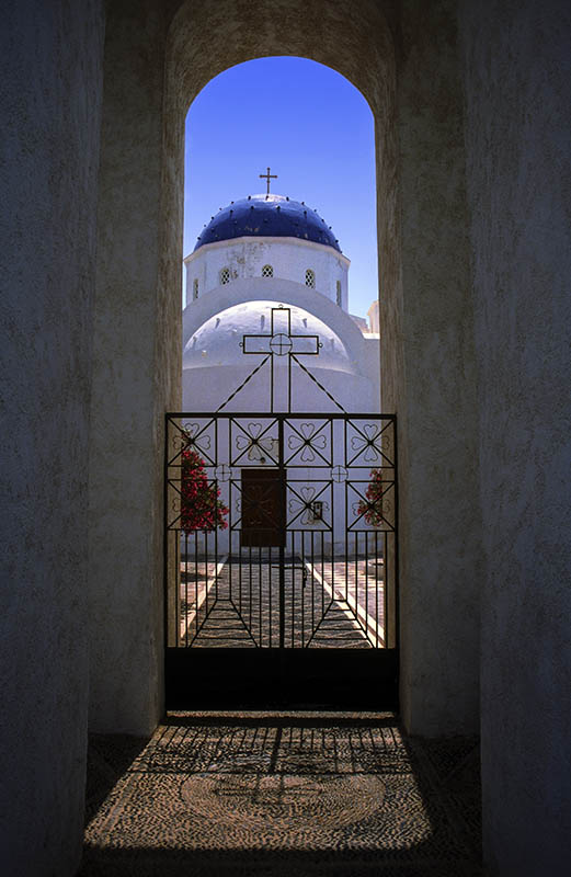Domed Church in Thira.